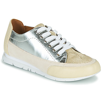 Shoes Women Low top trainers Karston CAMINO Beige / Silver