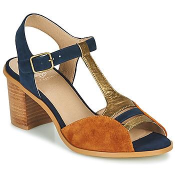 Shoes Women Sandals Karston LILIAN Brown / Marine