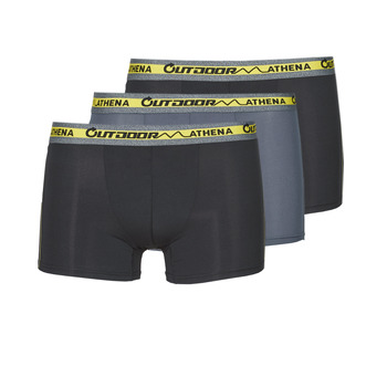 Underwear Men Boxer shorts Athena OUTDOOR RECYCLEE X3 Black / Grey / Black