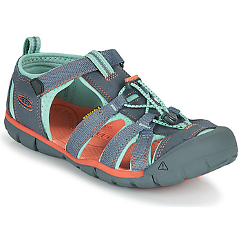 Shoes Girl Outdoor sandals Keen SEACAMP II CNX Grey / Pink