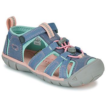 Shoes Girl Outdoor sandals Keen SEACAMP II CNX Grey / Pink