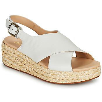 Shoes Women Sandals Clarks KIMMEI CROSS White