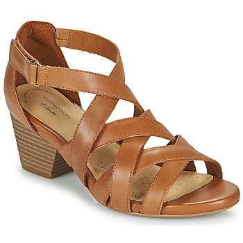 Shoes Women Sandals Clarks LORENE POP Camel