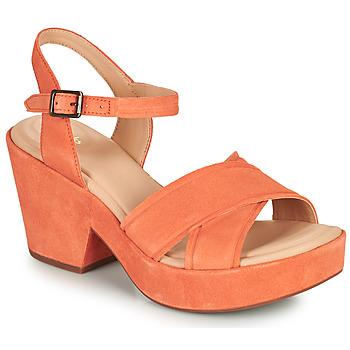 Shoes Women Sandals Clarks MARITSA70STRAP Coral