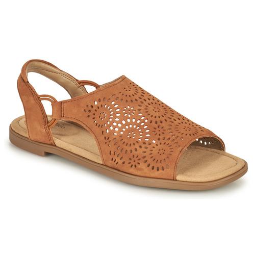 Shoes Women Sandals Clarks REYNA SWIRL Camel