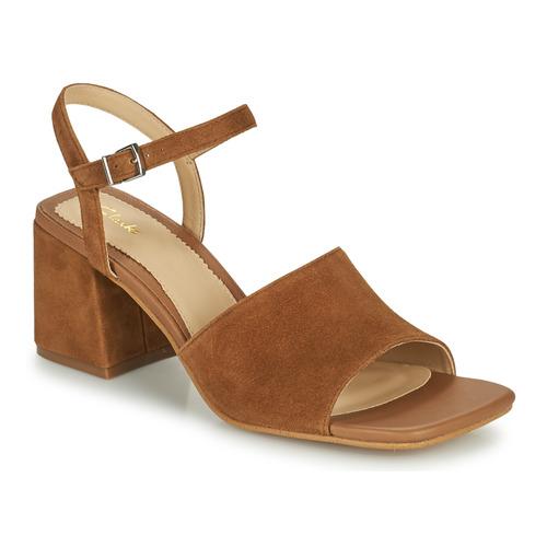 Shoes Women Sandals Clarks SHEER65 BLOCK Camel