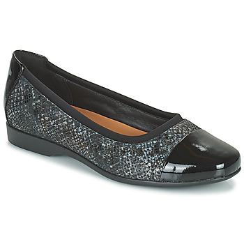 Shoes Women Flat shoes Clarks UN DARCEY CAP2 Black