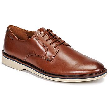 Shoes Men Derby Shoes Clarks MALWOOD PLAIN Brown