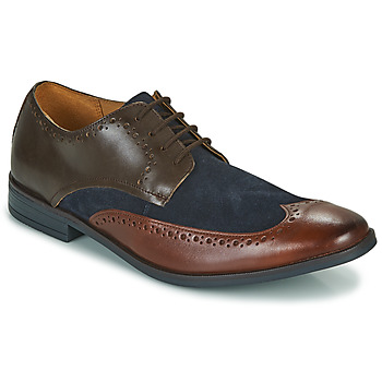 Shoes Men Derby Shoes Clarks STANFORD LIMIT Brown / Blue