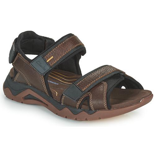Shoes Men Outdoor sandals Clarks WAVE2.0 JAUNT Brown