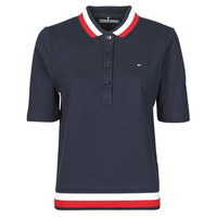 Clothing Women Short-sleeved polo shirts Tommy Hilfiger REGULAR GLB STP POLO 1/2 SLV Marine