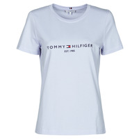 Clothing Women Short-sleeved t-shirts Tommy Hilfiger TH ESS HILFIGER C-NK REG TEE SS Blue / Sky