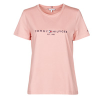 Clothing Women Short-sleeved t-shirts Tommy Hilfiger TH ESS HILFIGER C-NK REG TEE SS Pink