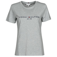 Clothing Women Short-sleeved t-shirts Tommy Hilfiger TH ESS HILFIGER C-NK REG TEE SS Grey