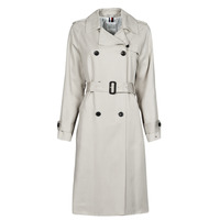 Clothing Women Trench coats Tommy Hilfiger DB LYOCELL FLUID TRENCH Beige