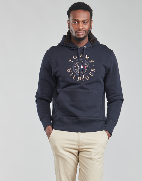 Clothing Men Sweaters Tommy Hilfiger ICON COIN HOODY Marine