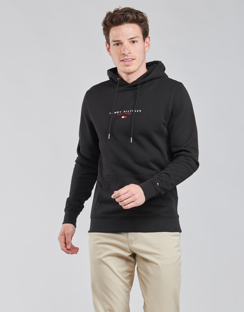 Clothing Men Sweaters Tommy Hilfiger ESSENTIAL TOMMY HOODY Black
