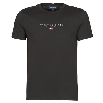 Clothing Men Short-sleeved t-shirts Tommy Hilfiger ESSENTIAL TOMMY TEE Black