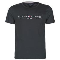 Clothing Men Short-sleeved t-shirts Tommy Hilfiger CORE TOMMY LOGO Black