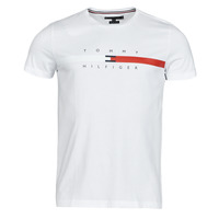 Clothing Men Short-sleeved t-shirts Tommy Hilfiger GLOBAL STRIPE CHEST TEE White