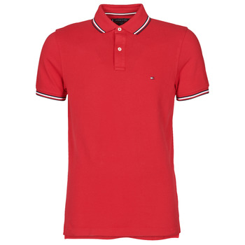 Clothing Men Short-sleeved polo shirts Tommy Hilfiger TOMMY TIPPED SLIM POLO Red
