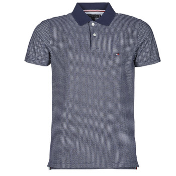 Clothing Men Short-sleeved polo shirts Tommy Hilfiger MICRO PRINT SLIM POLO Blue