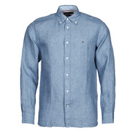 Clothing Men Long-sleeved shirts Tommy Hilfiger PIGMENT DYED LINEN SHIRT Blue