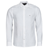 Clothing Men Long-sleeved shirts Tommy Hilfiger PIGMENT DYED LINEN SHIRT White