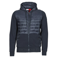 Clothing Men Duffel coats Tommy Hilfiger JACQUARD MIXED MEDIA ZIP HOODY Blue