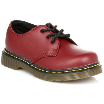 Derby Shoes Dr Martens Kids Cherry Red Colby Softy T Leather Shoes
