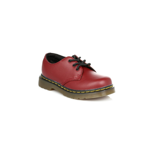 Shoes Children Derby Shoes Dr Martens Kids Cherry Red Colby Softy T Leather Shoes Red