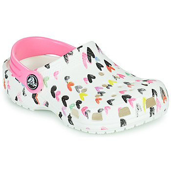 Shoes Girl Clogs Crocs CLASSIC HEART PRINT CLOG K White
