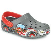 Shoes Boy Clogs Crocs FLTRUCKBANDCLOG K Grey / Red