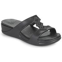 Shoes Women Mules Crocs CROCSMONTEREYSHIMMERSLPONWDG W Black