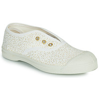 Shoes Girl Low top trainers Bensimon SHINNY White / Gold