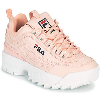 Shoes Girl Low top trainers Fila DISRUPTOR KIDS Pink
