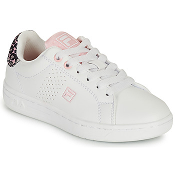 Shoes Girl Low top trainers Fila CROSSCOURT 2 NT KIDS White / Pink