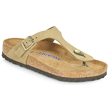 Shoes Women Flip flops Birkenstock GIZEH SFB Brown