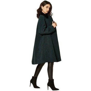 Clothing Women Coats De La Creme Cashmere Swing Coat Green