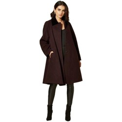Clothing Women Coats De La Creme Swing Coat Bordeaux