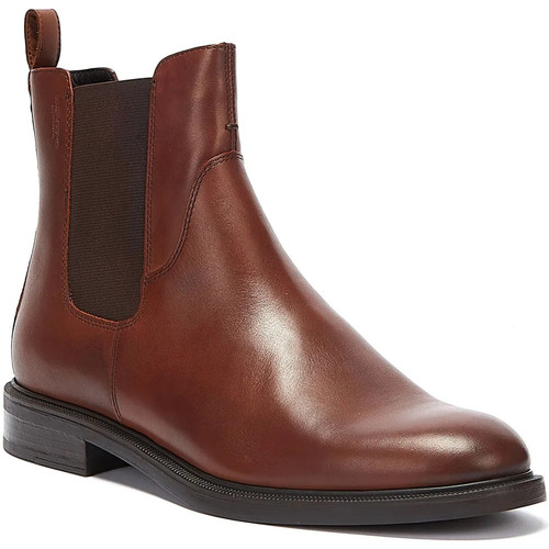 Shoes Women Ankle boots Vagabond Amina Leather Womens Brown Boots Brown