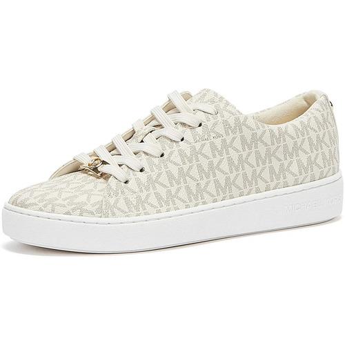 Shoes Women Low top trainers MICHAEL Michael Kors Keaton Logo Womens White Trainers White