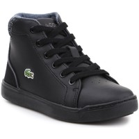 Shoes Children Hi top trainers Lacoste Explorateur Lace 317 1 Cac Black