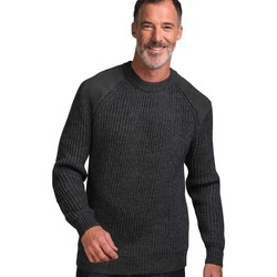 Clothing Men Jumpers Woolovers Pure Wool Countryman Jumper Grey