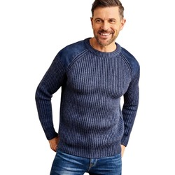 Clothing Men Jumpers Woolovers Pure Wool Countryman Jumper Blue