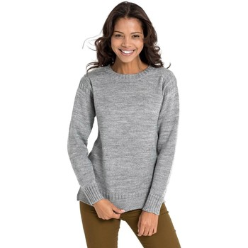 Clothing Women Jumpers Woolovers Pure Wool Guernsey Jumper Grey
