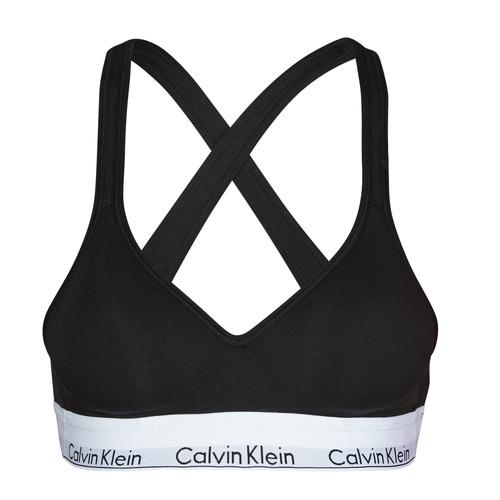 Underwear Women Sports bras Calvin Klein Jeans MODERN COTTON BRALETTE LIFT Black