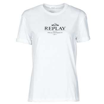 Clothing Women Short-sleeved t-shirts Replay W3506D-20994 White