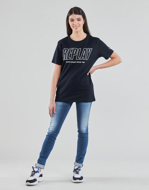 Clothing Women Skinny jeans Replay HYPERFLEX LUZ Blue / Medium
