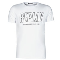 Clothing Men Short-sleeved t-shirts Replay M3395-2660 White